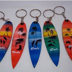Surf-shaped keychain